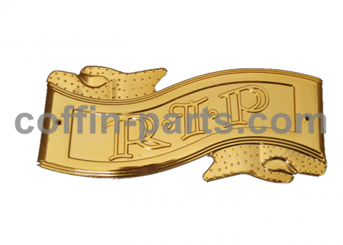 Funeral Casket Ornaments PP Recycle Material , RIP Casket Hardware Wholesale