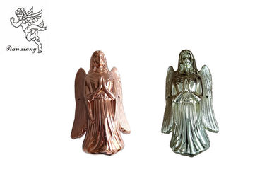 China Gold Silver Copper Angel Coffin Fittings , Angel 002# Coffin Corner PP Plastic factory